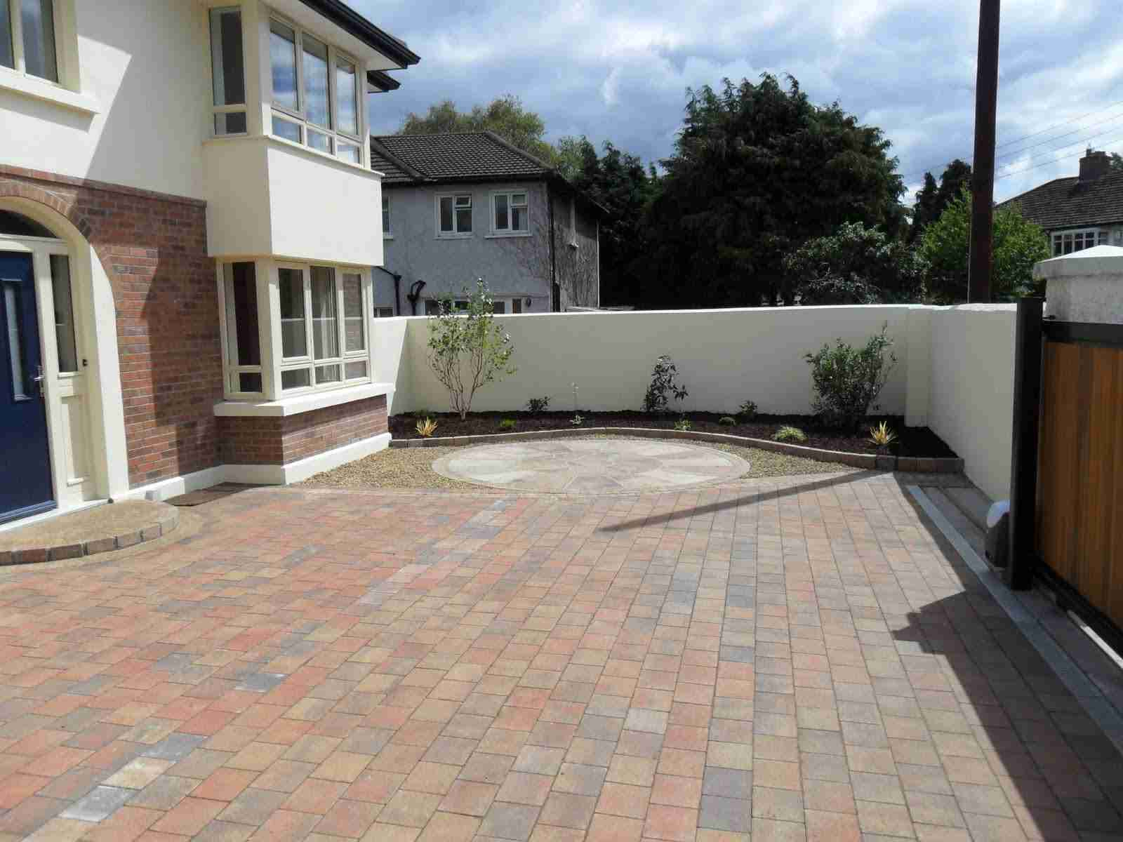 Paved Driveway And Indian Sandstone Patio GardenTerenure CoDublin