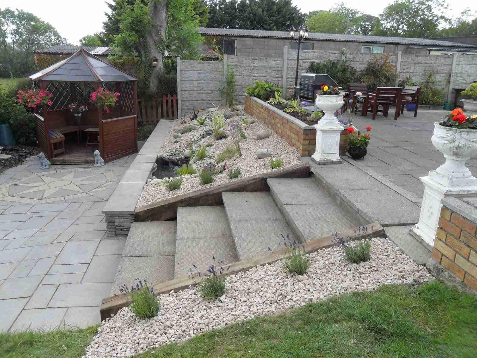 Pond design & Landscaping ,remodeling of a garden pond ...