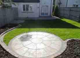 Circular Patio,Raised Patio Garden Design, Roschoill ,Drogheda co.Louth