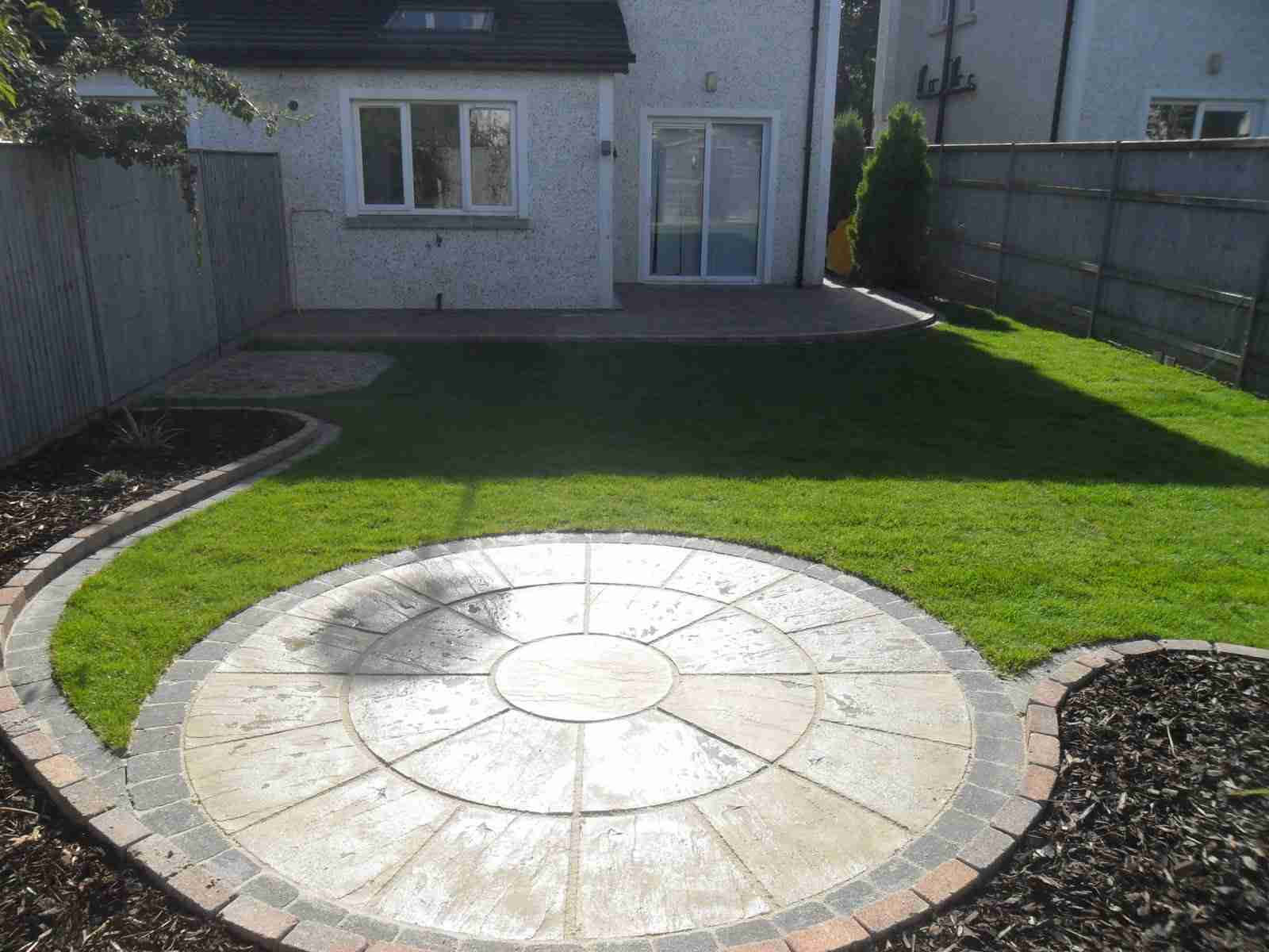Circular Patio,Raised Patio Garden Design, Roschoill ,Drogheda Co.Louth