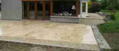 Travertine Patio & Limestone Gravel Driveway , Rossin, Slane co.Meath