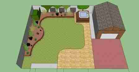 garden design birds eye view plan view