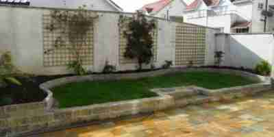 Terraced Garden Makeover Donegal Quartz Paving, Raised Beds, The Spires, Termonfeckin co.Louth