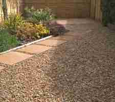 Garden Regeneration, Granite Paving & Garden Lighting, Mornington, Co.Meath