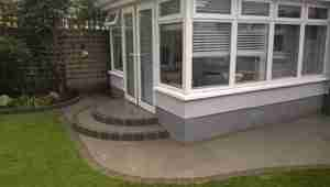 Limestone paving ,Raised beds and New turf lawn Castlewood ,Drogheda,co.Louth