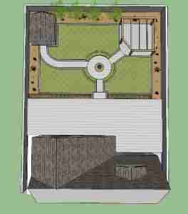 Image of proposed garden design in plan view