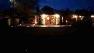 Image of patio with Led Lighting installed at nighttime e