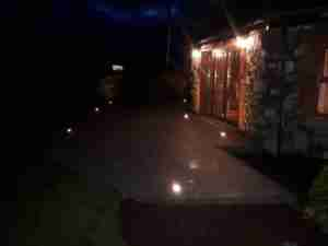 Image of Led lights set in patio