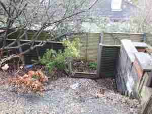 Image of unmanageable sloping garden