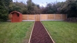 Overlap fencing and concrete post and panel