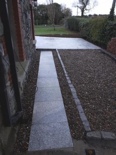 Silver granite path