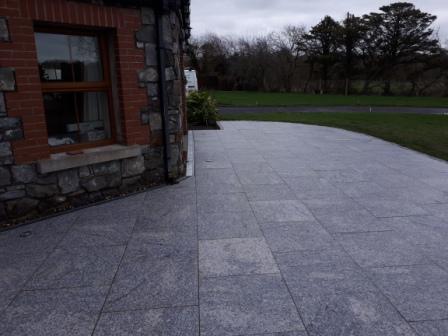 Silver granite slabs 600 x 600