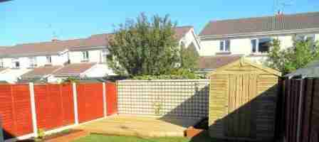 Landscaping a rear garden design makeover & decking, Inse Bay, Laytown, co.Meath