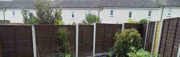 Landscaping & fencing, Balbriggan co.Dublin. Concrete post and panel fencing low maintenance
