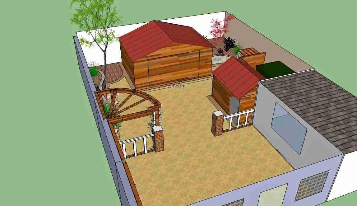 Image of garden design as a birds eye view