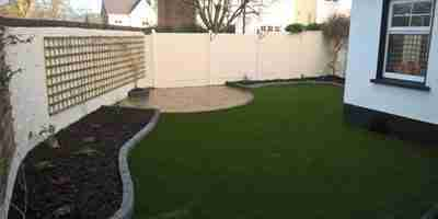 Garden Design Patio, Raised Beds & Artificial Lawn, Castlewood, Drogheda co.Louth