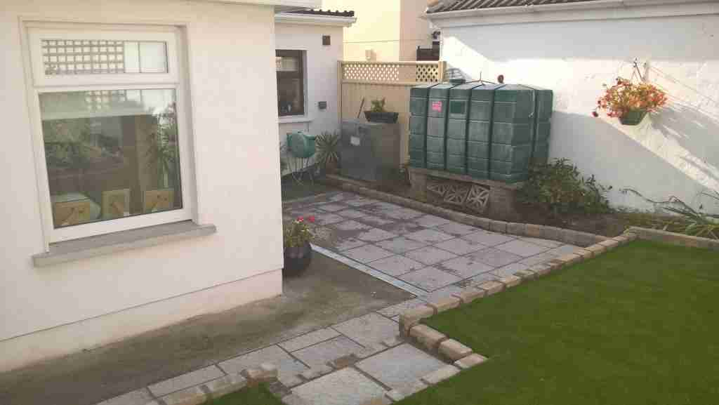 New Terraced Garden With Artificial Lawn, Patio & Raised Beds, Oaklawns, Drogheda Co.Louth