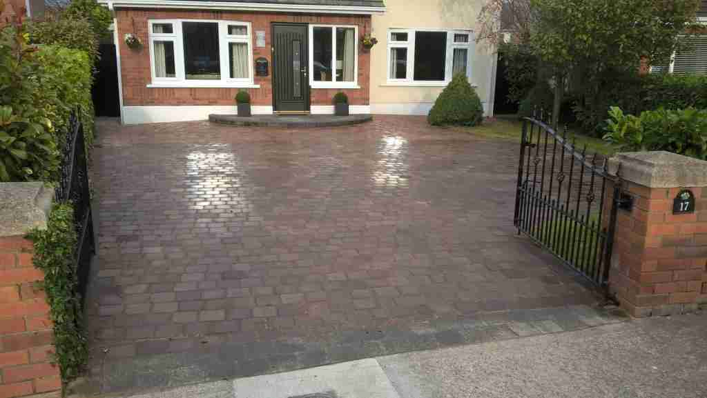 Redesigning A Driveway With A New Curved Front Step, Cleaning & Sealing Of Block Paving ,Wellseley Manor, Bettystown, Co.Meath