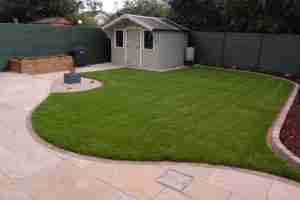 Image of the Newly designed garden