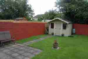 Image of the existing garden before landscaping
