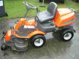 Image of a ride on lawn mower