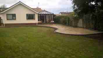 Raised Curving Yellow Limestone Patio Bettystown co.Meath
