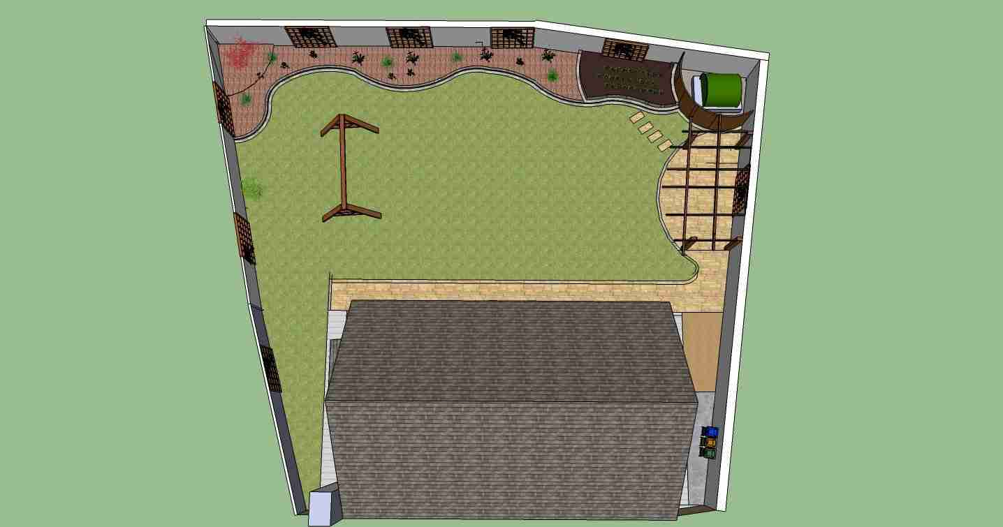 Image of Garden design plan view