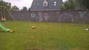 Photo of bare grey garden block walls