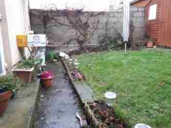 Sloping garden with poor drainage