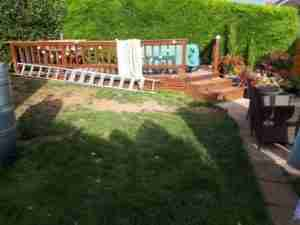 Image of Poor lawn and enclosed deck space