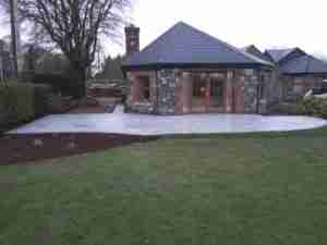 Image of Silver Granite patio and stone cottage