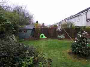 image of cluttered garden space