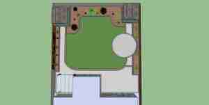 Garden design plan view