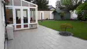 Image of New low maintenance patio and lawn area