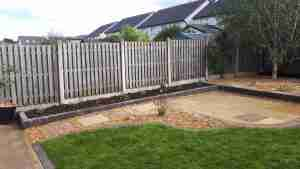 Image of new low maintenance garden space