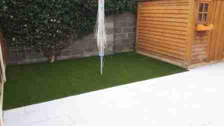 Low Maintenance Garden ,Artificial lawn, Silver Granite Patio, Inse Bay, Laytown Co.Meath