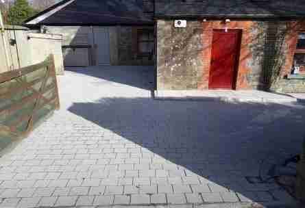 Sienna Silver Block Driveway & Natural Stone Path , Mellifont Co.Louth