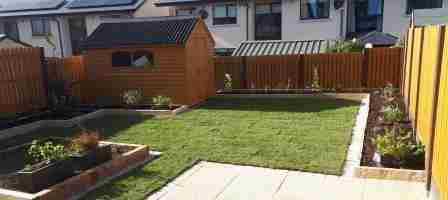 Garden Design & Landscaping with Yellow Limestone Paving, Fulmar , Skerries co.Dublin