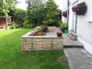 Image of Paving and walling before