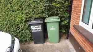 Unsightly wheelie bins