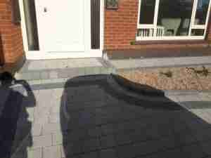 Image of new step and paving