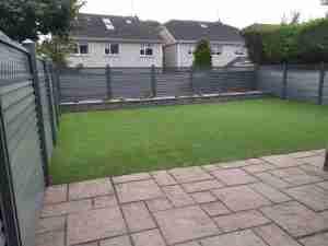 Image of Elite Slaney fencing , Artificial lawn and Connemara walling raised bed