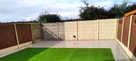 Artificial lawn With Porcelain Paving, Downstown Manor, Duleek co.Louth.