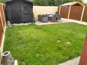 View of  dog marked lawn which was very wet in winter