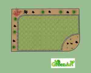 View of the garden design plan view