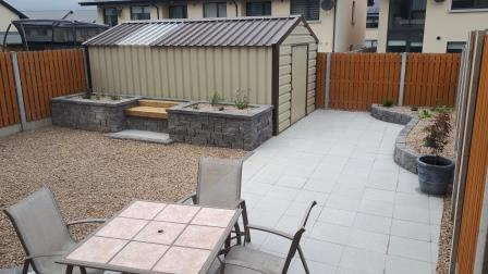 Connemara walling raised beds and seating