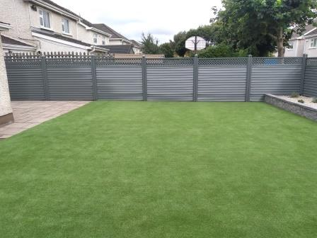 Elite fence Slaney and artificial lawn