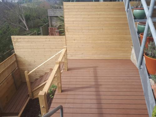 New boundary cladding and fencing with composite decking