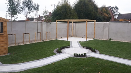 Pergola and paving Bettystown