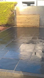 Black limestone wet